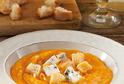 Krémová dýňová polévka s gorgonzolou.