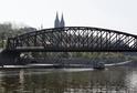 Železniční most v Praze.