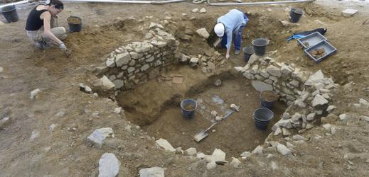 Archeologové z brněnské Masarykovy univerzity v Mont Beuvray.
