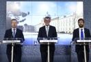 Zleva ministr životního prostředí R. Brabec, A. Babiš a R. Pelikán.