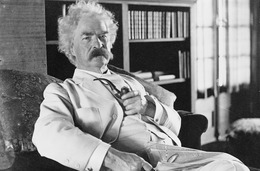 Mark Twain, autor knihy Dobrodružství Huckleberryho Finna.