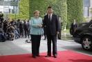 Angela Merkelová a čínský prezident Si Ťin-pching.