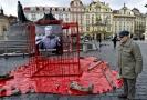 Iniciativa Bez komunistů.cz uspořádala 24. února na Staroměstském náměstí v Praze shromáždění k uctění obětí komunismu.