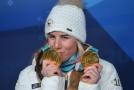 Ester Ledecká se díky dvěma zlatým medailím stala jednou z největších hvězd celé olympiády.