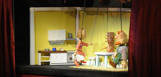 Loutkové představení Divadla Alfa pro děti.