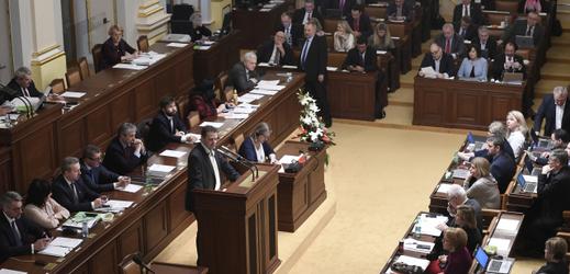 Zasedání Poslanecké sněmovny.