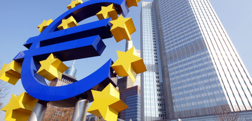 Budova Evropské centrální banky.