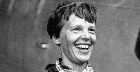 Amelia Earhartová.