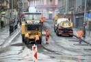 Oprava Husitské ulice.
