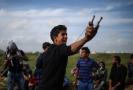 Protesty v palestinském Pásmu Gazy.