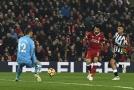 Mohamed Salah v šanci proti Newcastlu.