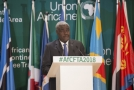 Šéf AU Moussa Faki Mahamat.