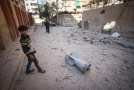 Trosky města Douma v Sýrii.