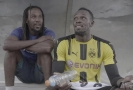 Usain Bolt už si vyzkoušel i dres Borussie.