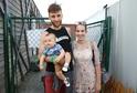 Míša Tomešová s rodinou.