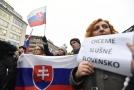 Účastníci demonstrace Za slušné Slovensko (ilustrační foto).