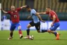 Po zápase s Uruguayí vstřebávali čeští fotbalisté únavu.