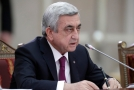 Arménský premiér Sargsjan.