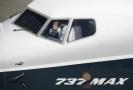 Pohled do kokpitu letadla Boeing 737 MAX.