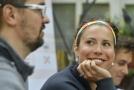 I přes zranění byla Eva Samková na tiskové konferenci plní optimismu.