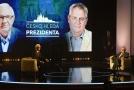 Jiří Drahoš a Miloš Zeman během televizní předvolební debaty.