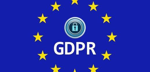 GDPR, vlajka EU.