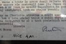 Detail jednoho z dopisů.