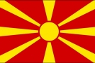 Makedonská vlajka.