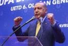 Recep Tayyip Erdogan na předvolebním shromážděním v Sarajevu.