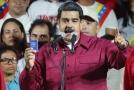 Socialistický prezident Nicolás Maduro.