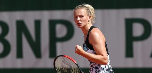 Kateřina Siniaková na French Open postoupila do druhého kola.