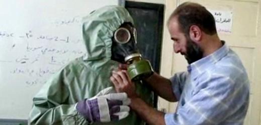 Záběr při chemickém útoku v Sýrii.