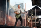 Zpěvák a kytarista skupiny Queens of the Stone Age Josh Homme.