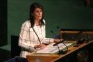 Americká velvyslankyně při OSN Nikki Haleyová.