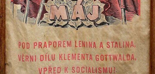 Prvomájový socialistický plakát.