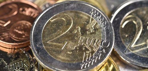 Euro mince.