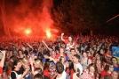 Fanoušci chorvatské reprezentace slavili celou noc postup do finále MS.