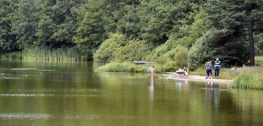 Na rybníku Sykovec u Třech Studní na Žďársku je koupání zakázáno.