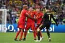 Radost Belgičanů po vstřeleném gólu ve čtvrtfinále MS.