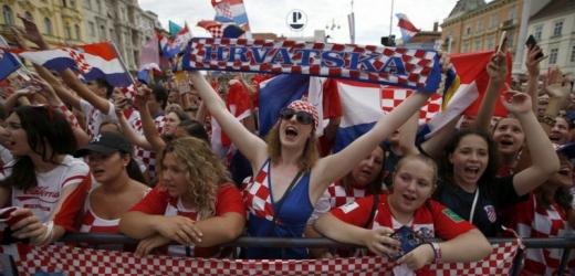 Chorvatští fanoušci vyšli do ulic slavit.