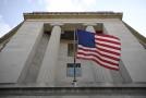 Budova ministerstva spravedlnosti Spojených států amerických.
