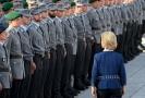 Německou armádu navštívila ministryně obrany Ursula von der Leyenová.