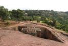 Skalní kostel v Etiopii, ilustrační foto.