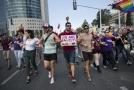 Demonstrace příslušníků komunity LGBT v Tel Avivu.