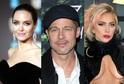 Angelina Jolie, Brad Pitt a Lady Gaga.
