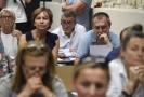 Do Horoměřic u Prahy přijel 29. července 2018 na setkání bývalých klientů zkrachovalého H-Systemu, členů bytového družstva Svatopluk, premiér Andrej Babiš (uprostřed).