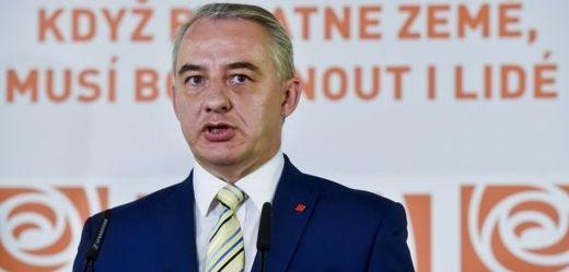 Předák Českomoravské konfederace odborových svazů (ČMKOS) Josef Středula.