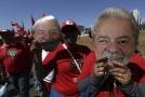 Příznivci brazilského exprezidenta Luize Inácia Luly da Silva.
