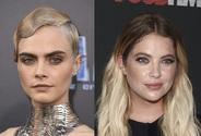 Bisexuální topmodelka s huňatým obočím Cara Delevingne polibkem potvrdila vztah s herečkou Ashley Benson