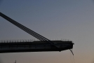 Zbylá část Morandiho mostu v Janově.